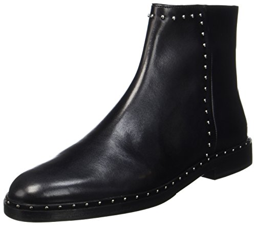 MELVIN & HAMILTON MH HAND MADE SHOES OF CLASS Damen Susan 47 Chelsea Boots, Schwarz (Crust Black + Rivets Nickel, Hrs), 39 EU
