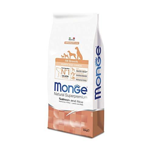 Monge - Natural Superpremium - all Breeds Puppy & Junior Salmone e Riso - Offerta 2 Sacchi da 12 kg