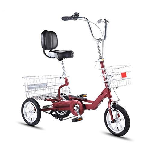 14inch Triciclo For Adultos Bicicleta 3 Ruedas For Los Adultos Tres De Bici For Los Adultos Adultos Adultos con Trike Carrito Y De Doble Disco De Freno De Aluminio Adultos Montaña Trikes