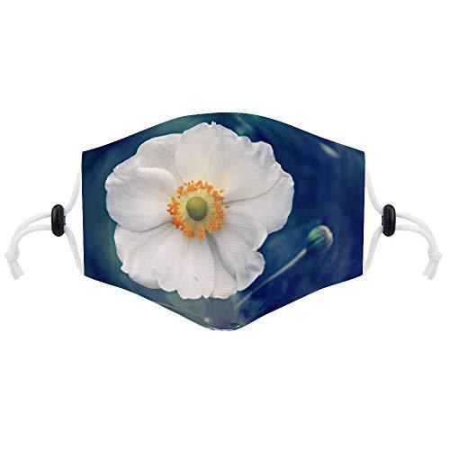 Cheyan Masker Gezicht Respirator Luchtvervuiling Fietsen Mond Maskers Met Twee Filters Voor Volwassen Vrouwen Mannen Anemoon Bloem Planten Natuur Zomer
