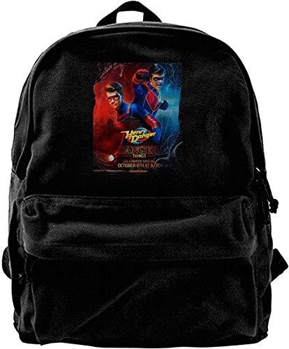 Rucksäcke Daypacks Taschen Canvas Backpack Danger TV Show of Henry Rucksack Gym Hiking Laptop Shoulder Bag Daypack for Men Women