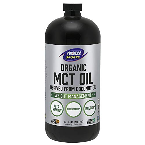 Now Sports Nutrition, Organic MCT (Medium-Chain triglycerides) Oil (in Plastic), 32-Ounce