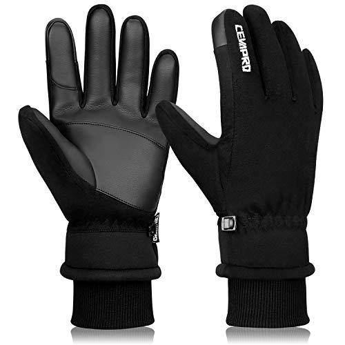 Yobenki Winterhandschuhe Warme Fahrradhandschuhe Wasserabweisende Skihandschuhe Touch Screen Handschuhe Atmungsaktive rutschfeste Winddichte Outdoor Sport für Reiten Laufen Skifahren Handschuhe