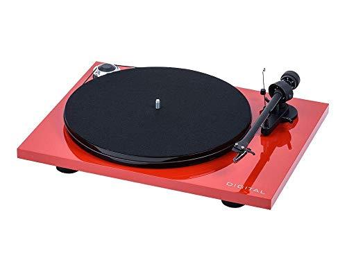 """Pro Ject Essential III Digital, Audiophiler """"Best Buy"""" Plattenspieler mit optischem Ausgang (Rot)"""