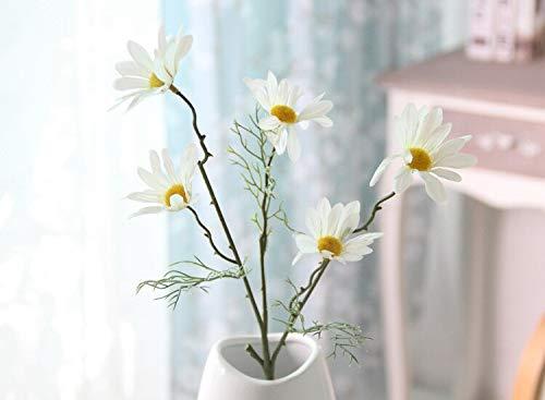 MENGYUE Flores Artificiales 5 Brotes De Flores Artificiales De Crisantemo Holandés, Pequeña Margarita, Flor Falsa, Flor…