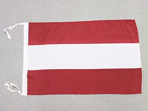 AZ FLAG Flagge LETTLAND 45x30cm mit Kordel - LETTISCHE Fahne 30 x 45 cm - flaggen Top Qualität