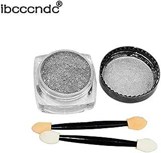 Ibcccndc 1G/Box Sliver/Gold Nail Glitter Powder Shinning Mirror Nail Art DIY Chrome Pigment Metal Glitters - Silver