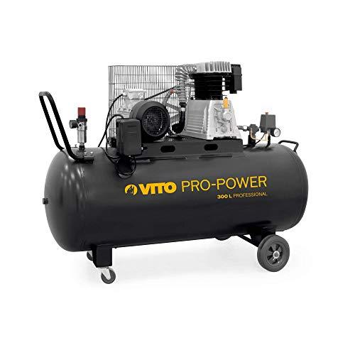 Vito Pro Power 300 litri Compressore 400v 4 CV 10 Bar (12 bar max) 400 l/min - Compressore aria compressa...