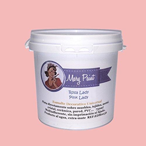 Mary Paint | Pintura para muebles efecto Chalk Paint, Rosa Lady - 750ml