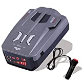 【2021 Upgraded】 V9 Radar Detector for Cars,Voice Prompt Speed, Vehicle Speed Alarm System,LED Display,City/Highway Mode,Auto 360 Degree Detection for Cars (Grey)