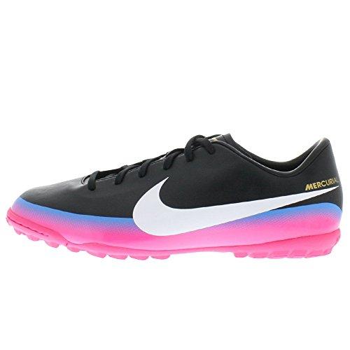 Nike Mercurial Victory III CR7 Turf - Zapatillas de fútbol para niños, Color Negro, Rosa y Blanco