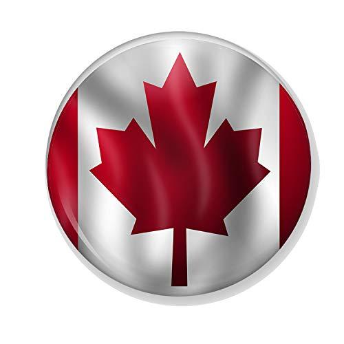 Gifts & Gadgets Co. Anstecknadel kanadaianische Flagge im Wind, 38 mm, klein bedruckt, rund