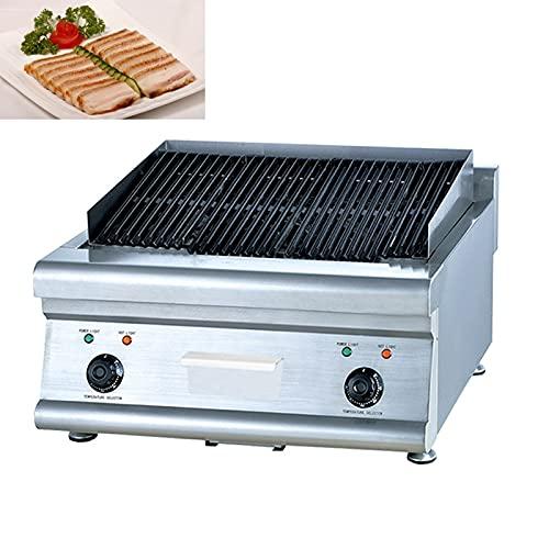 JSJJAUJ Horno de Barbacoa eléctrico 7200W Calefacción eléctrica Barbacoa Parrilla Horno Sin Humo Interior Carbono Libre Carne Kebab Roaster Barbacoa Pan HOTPLA Play Plante Comercial