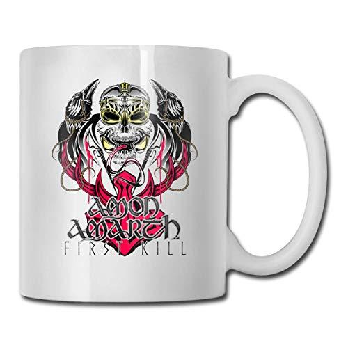 DHGER Welerony Home Taza de café Amon Amarth - First Kill Interesante taza de 330 ml Taza de café de cerámica Taza de té