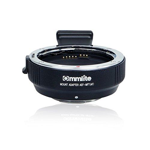 Commlite レンズマウントアダプター CM-AEF-MFT (キヤノンEFマウントレンズ → マイクロフォーサーズマウント変換) 電子接点付き