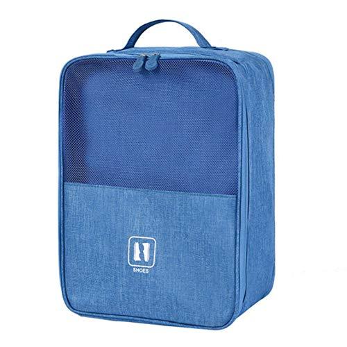 MFM Bolso del Zapato del Almacenamiento, Bolso de Golf portátil del Almacenamiento de la Prenda Impermeable del Viaje portátil fácil moverse-Azul