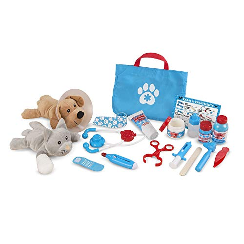 Melissa & Doug- Pet Vet Examine & Treat Juego de Veterinario, Multicolor...