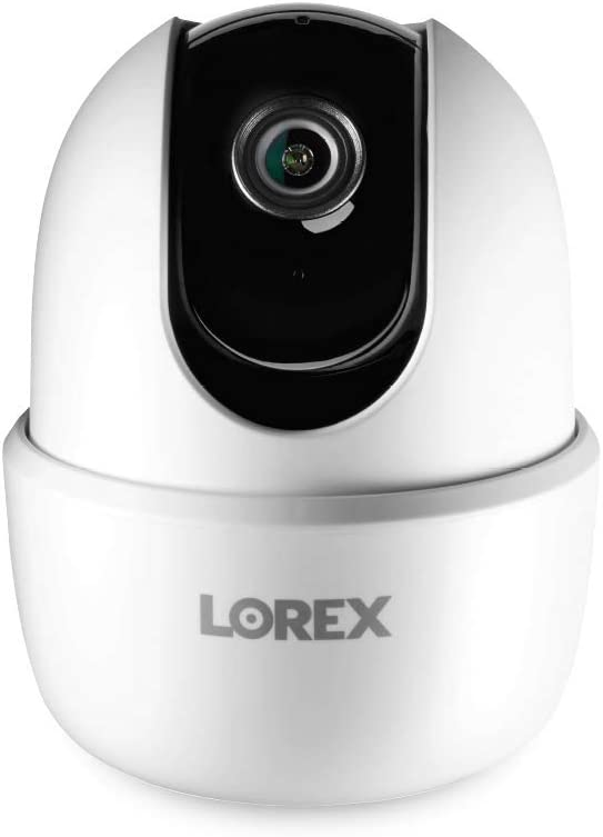 Lorex 1080p HD Smart Indoor Pan/Tilt Wi-Fi Security Camera with Person Detection, Two-Way Audio, and Smart Home Voice Control