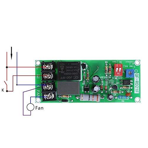 XYHHStor Relé 100V-220V Módulo de relé Ajustable Control horario de Apagar el Interruptor Junta de retardo for Extractor Relé electrónico,