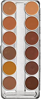 Kryolan Dermacolor Camouflage Creme 12 Colors Makeup Palette # 75004 Caribbean
