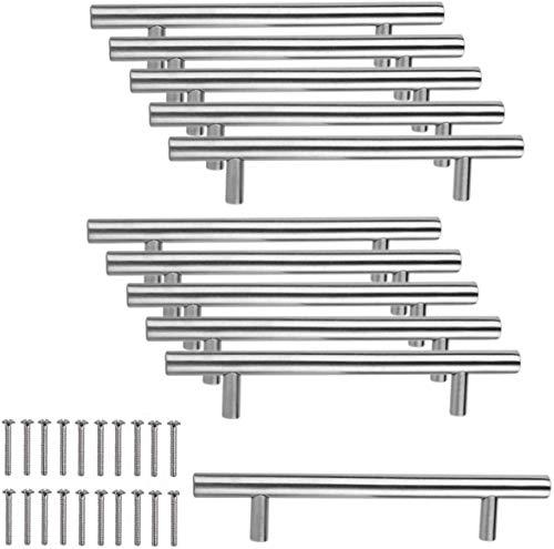 JZK 10 x Edelstahl Handgriffe Möbelgriff Stangengriffe Bohrlochabstand 96mm Relinggriffe für Schrank Schublade Kleiderschrank Schranktür