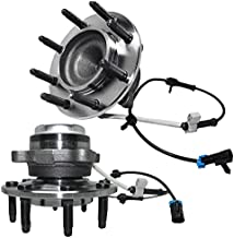 Detroit Axle - 8 Lug Front Wheel Hub and Bearing for GMC Savana, Chevy Express 2500 3500 4500, w/ABS - 2pc Set
