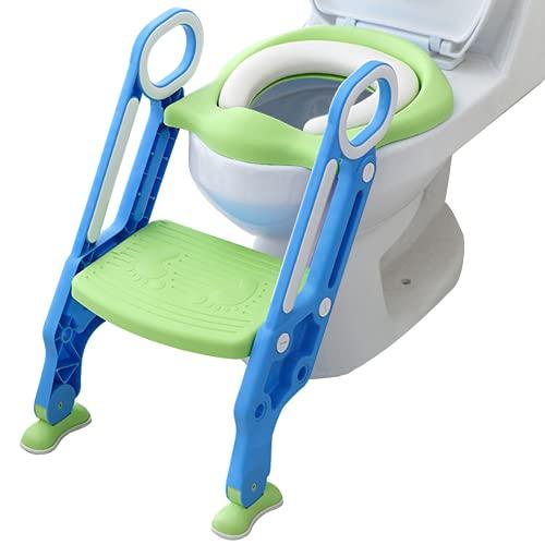 補助便座 子供用便座 トイレトレーナー トイレトレーニング おまる 折りたたみ式 ソフトクッション(カラー3は硬いクッション) 尿がしぶき防止 挟まれ防止 滑り止め 取外し可能 トイレ踏み台 ステップ式 ベビー 踏み台 XIANRUI (カラー3)