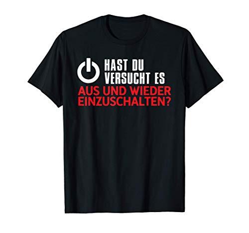 Aus Einschalten Weihnachts Geschenk Itler Nerd Shirt Lustig T-Shirt