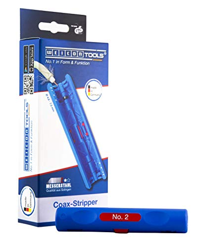 WEICON TOOLS Coax-Stripper No. 2 Entmanteln & Abisolieren von 4,8 - 7,5 mm Koaxialkabeln