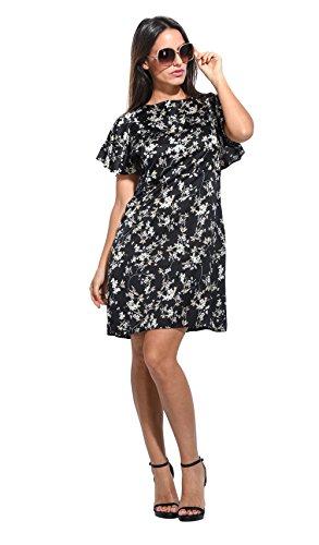 Vestido FLEUR negro/blanco