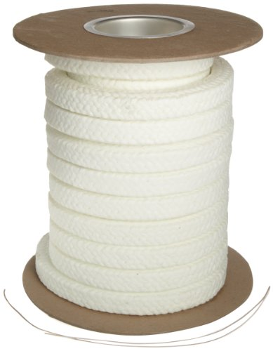 Palmetto 1347AF Series Synthetic with PTFE & Lube Compression Packing Seal, White, 1/4' Square, 10' Length