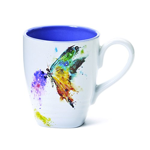 Kaleidoscope Butterfly Watercolor Mug With Handle