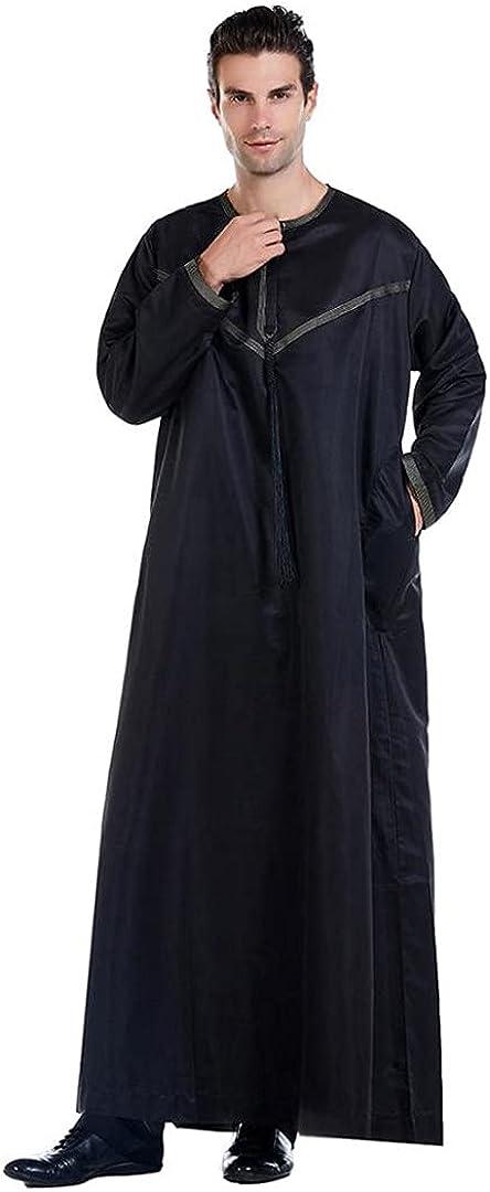 Eyastvgnf Ramadan Muslim Men Clothing Long Dress Pakistan Dubai Arab Djellaba Kaftan Abaya Islamic Robe