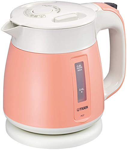 Tiger Thermos Electric Kettle 800ml Coral Orange Wakuko PCF-G080-D Tiger