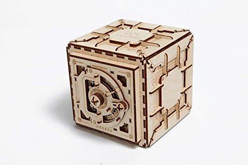 Casse-tête 3D en Bois pour Adultes Modèles de Coffre-fort Ugears - 1
