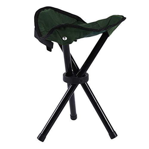 Yeucan Taburete plegable portátil para acampar con marco ligero para actividades al aire libre como acampada, pesca, senderismo, montañismo, bolsa de transporte plana Size verde
