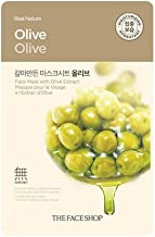 THE FACE SHOP Real Nature Olive Face Mask - Skin Purifying, 0.71 oz/21 ml
