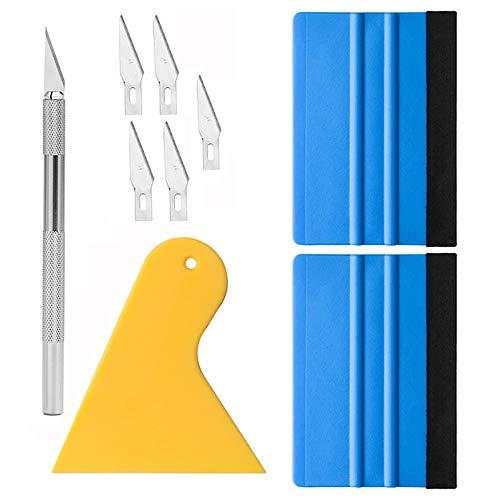 Gebildet Fensterfolien-Tönungswerkzeug Tapeten Werkzeuge Bastelwerkzeuge mit Filzrakel, Trimmwerkzeug für Selbstklebende Folien, Autovinyl, Scheibentönung, Bastelarbeiten