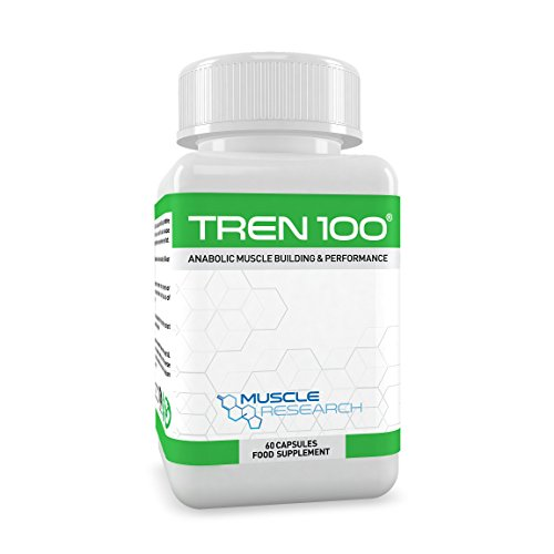 Muscle Research TREN 100 - Advanced Legal Bodybuilding Supplement - 60 Vegetarian Capsules - 30 Days Supply - UK Manufactured