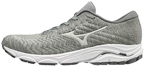 Mizuno Men's Wave Inspire 16 WAVEKNIT Road Running Shoe, Highrise-Glacier Grey, 10 D US