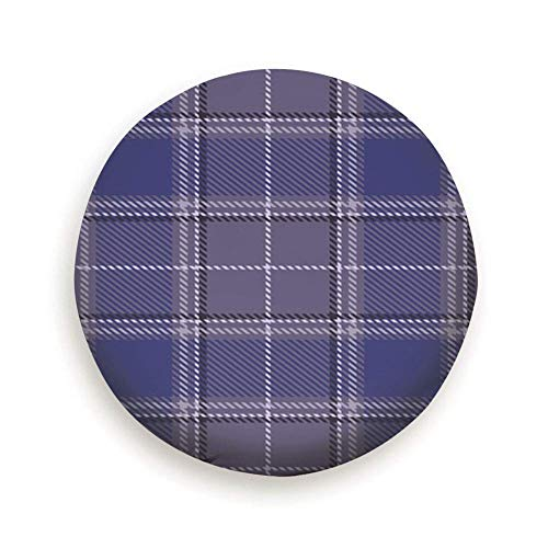 Belleeer Reserveradabdeckung,Tartan Plaid Purple Abstract Beauty Fashion Spare Wheel Tire Cover Waterproof Dust-Proof Universal for,Trailer, Rv, SUV and Many Vehicle 14