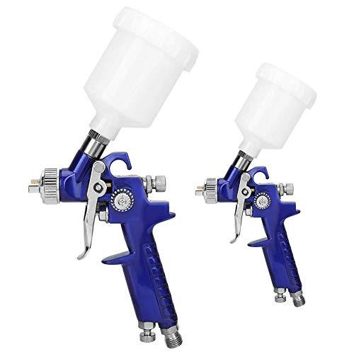2 Pcs Spray Guns for Paint, 600 ml Large Capacity, Precise Control Gravity Feed Spray Gun, for...