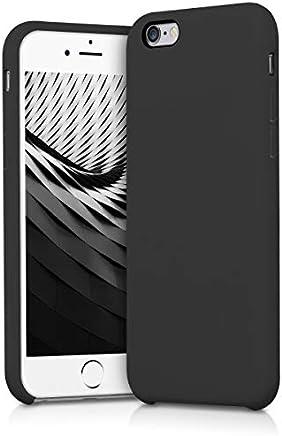 kwmobile Funda para Apple iPhone 6 / 6S - Carcasa de [TPU] para teléfono móvil - Cover [Trasero] en [Negro Mate]