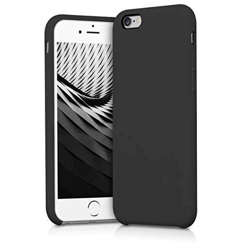 kwmobile Funda Compatible con Apple iPhone 6 / 6S - Funda Carcasa de TPU para móvil - Cover Trasero en Negro Mate
