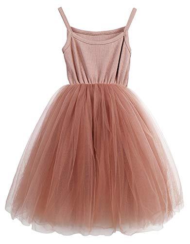 LYXIOF Baby Girls Tutu Dresses Sleeveless Princess Dress Infant Tulle Dress Toddler Sundress Pink A 3 Years