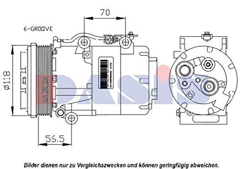 AKS Dasis 851067N Compresor, aire acondicionado