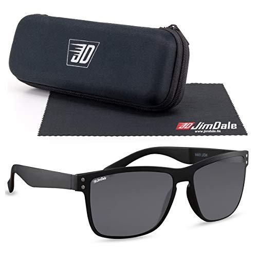 JD Jim Dale Gafas de sol negras con marco de plástico UV400, muchos colores Negro tintado Talla única