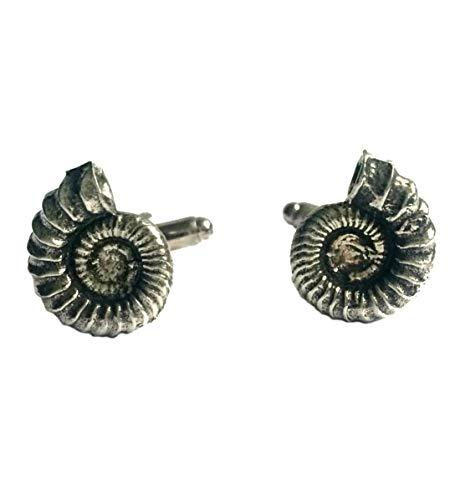 Boutons de Manchette Ammonite (avec Boîte à Cadeau)