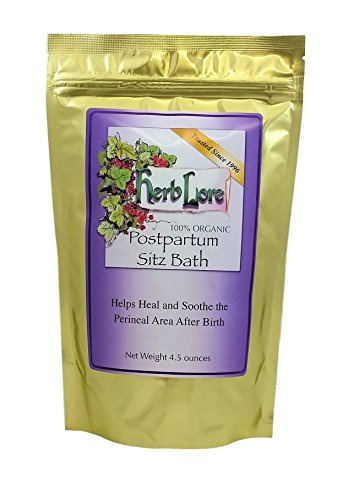 Postpartum Sitz Bath Herbs - Soothing Bath Soak for Post Partum Care & Recovery - Heals and Soothes Hemorrhoids and Damaged Perineal Tissues - Herb Lore