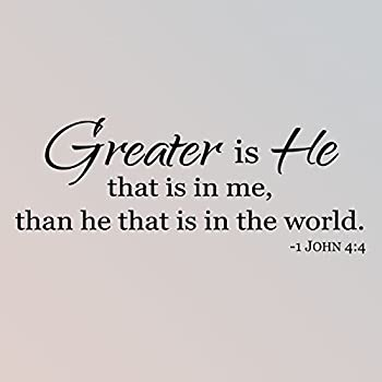 30 X12 Greater Is He That Is In Me Than He That Is In The World John 4 4 Bible Verse Scripture Christian Wall Decal Sticker Art Home Decor Amazon Com /r/sticker is for everyone from the lurking sticker lover, to the aspiring sticker entrepreneur. 30 x12 greater is he that is in me than he that is in the world john 4 4 bible verse scripture christian wall decal sticker art home decor